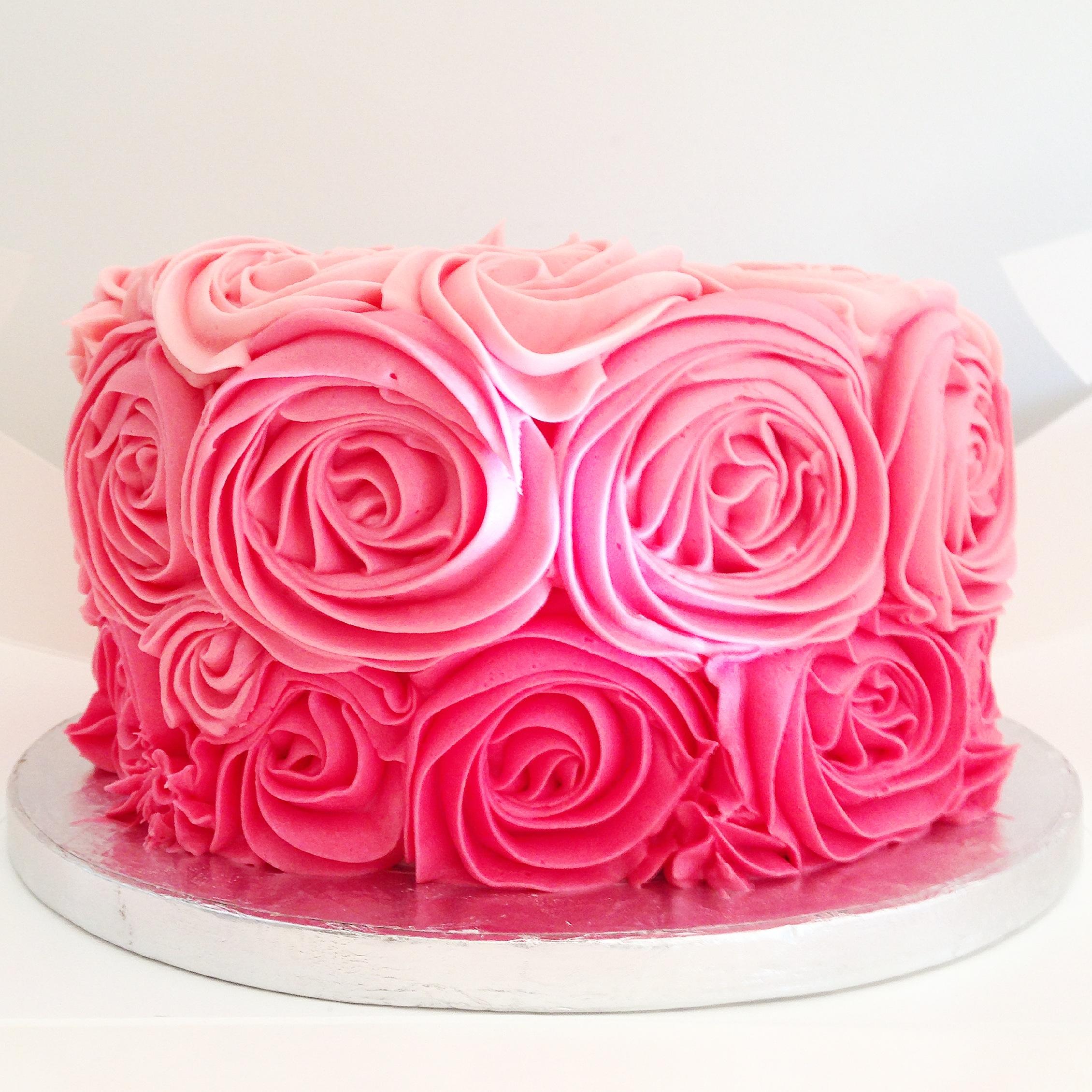 Baby S Smash Cake Beautiful Rosette Cake Decorating With
