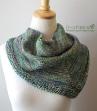 Triangle Scarf Knitting Pattern | Shawl Kerchief Pattern