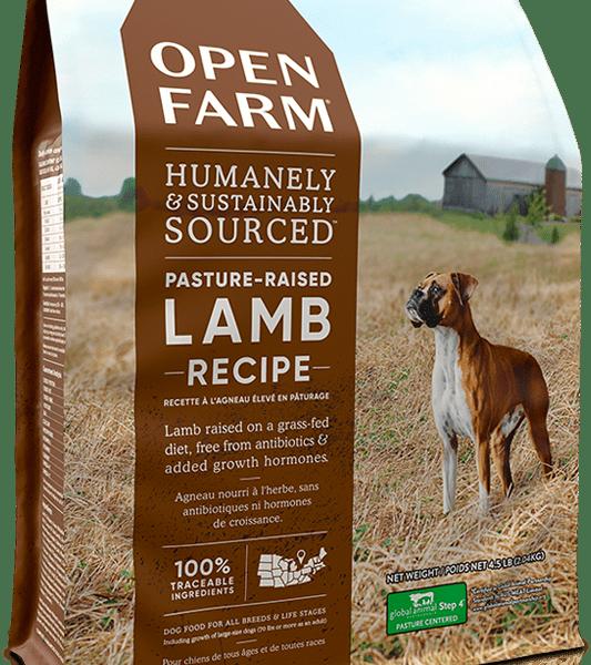 OPEN FARM DOG DRY GRAIN FREE PASTURE- RAISED LAMB 4.5# 1