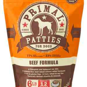 Primal 6lb Canine Beef Formula Patties