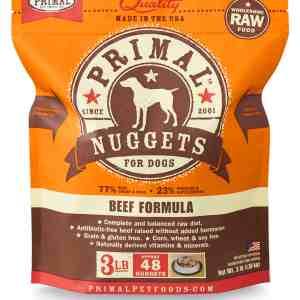 Primal 3lb Canine Beef Formula Nuggets