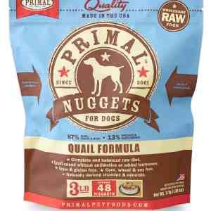 Frozen Raw Quail Formula Dog Nuggets 3 Lbs