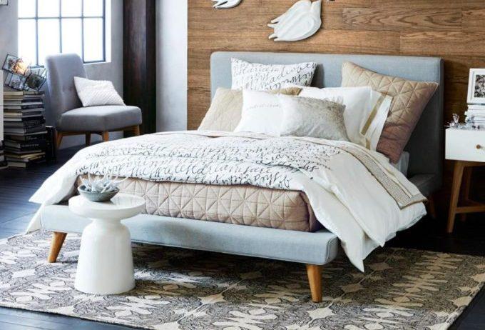 23dd92565b Posh Lookalike: West Elm Mod Upholstered Bed | Posh Pennies