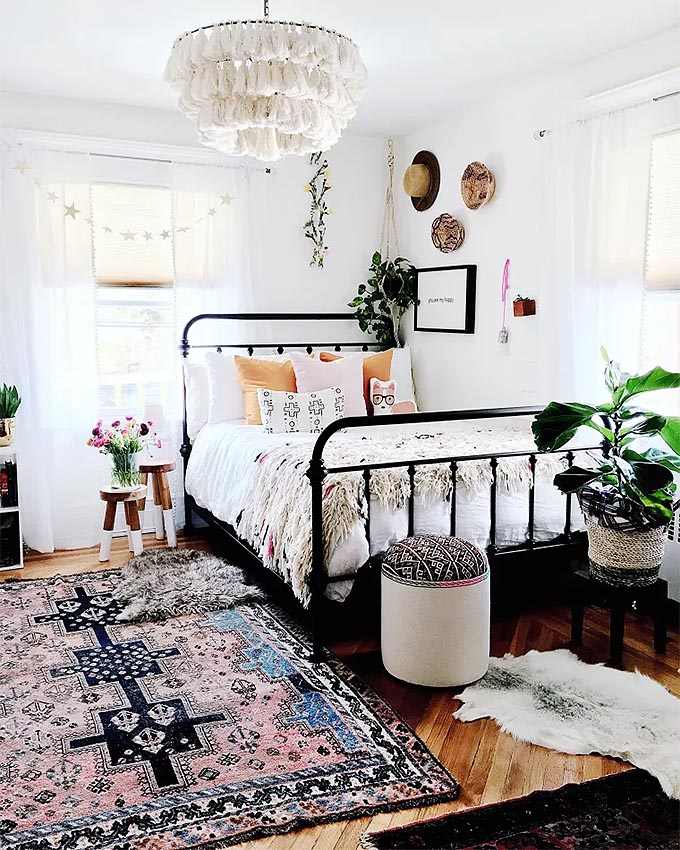 get the look: nordic boho bedroom | posh pennies