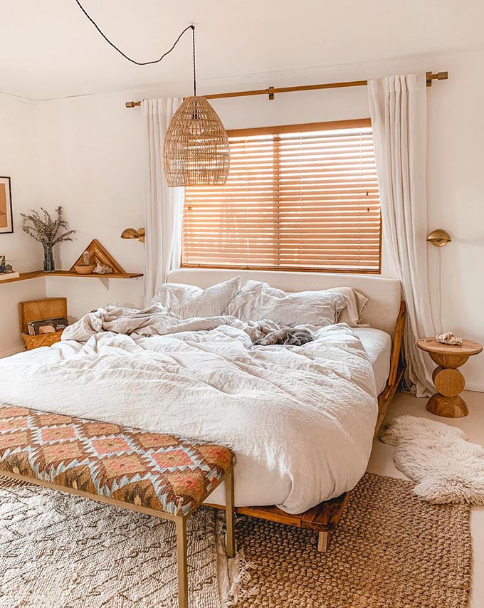 How To Create The Perfect Boho Chic Bedroom | Posh Pennies on Modern Boho Bed Frame  id=35810