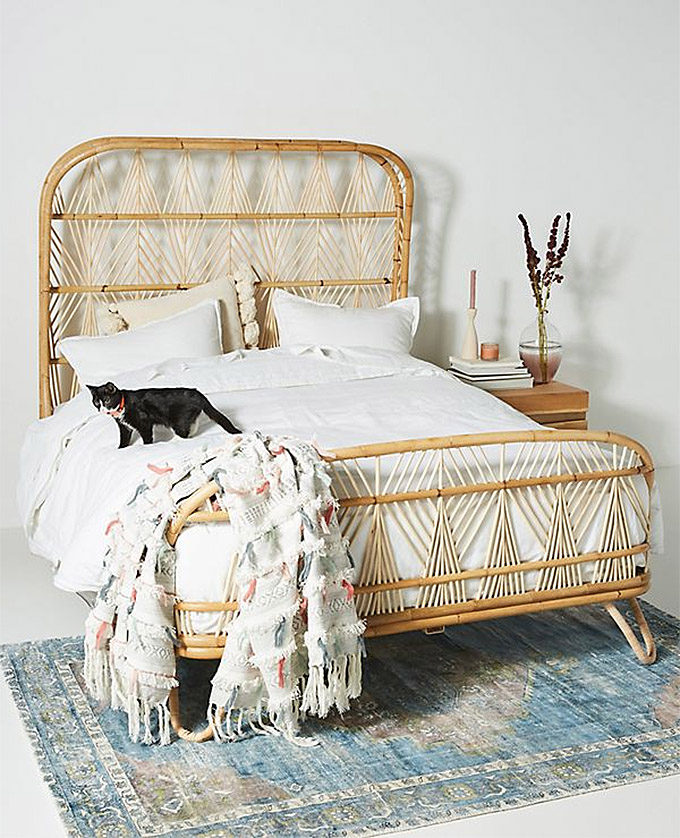 The Best Affordable Boho Beds And Headboards Rattan Wood Posh Pennies