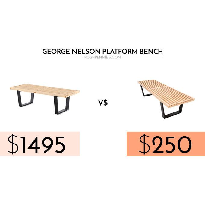 Amazing Posh Lookalike George Nelson Platform Bench Posh Pennies Theyellowbook Wood Chair Design Ideas Theyellowbookinfo