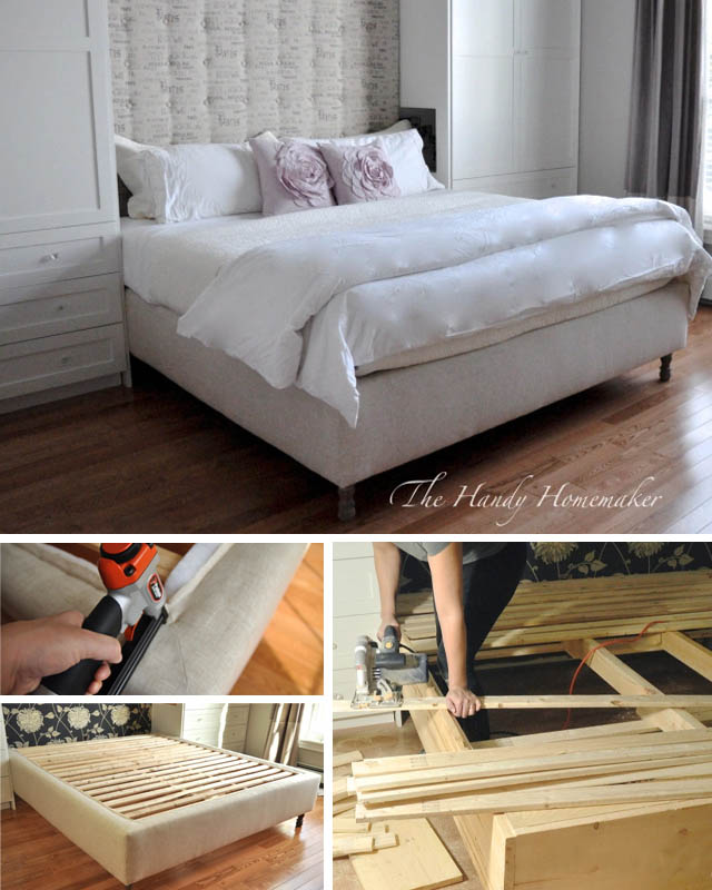 21 Awesome Diy Bed Frames You Can, Upholstered Queen Bed Frame Diy