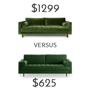 Brilliant Best Affordable Dupe Of The Velvet Article Sven Sofa Posh Andrewgaddart Wooden Chair Designs For Living Room Andrewgaddartcom