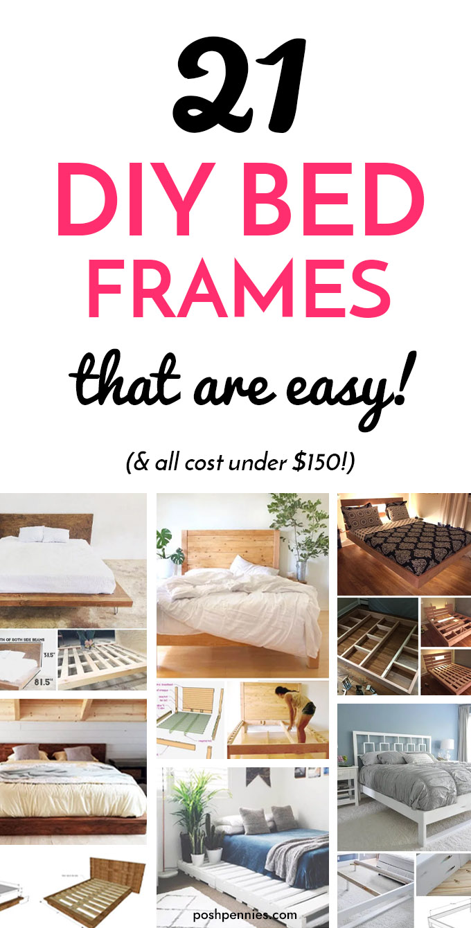 20 Awesome DIY Bed Frames You Can Totally Make   Posh Pennies