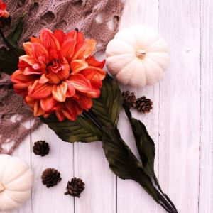 Fall, White Pumpkins, Pine Cones, Knitted Scarf, Fall Floral, Farmhouse