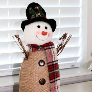 Holidays, Christmas, Farmhouse, Christmas Decor, Snowman, Vertical Styled Stock Image