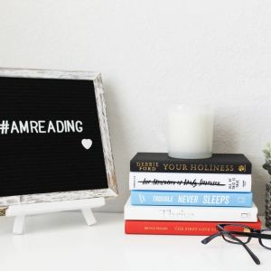 Lifestyle, Letterboard, Books, Reading Glasses, Candle, Succulent