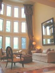 Silk draperies for 22 foot ceilings