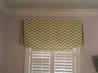 Lime Green Chevron Valance, Girls Bedroom
