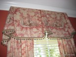 Chinoiserie Toile Valance with Turban Tassels