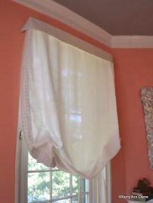 Linen Sheer London Shade with Border