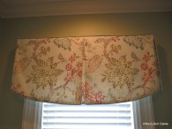Scalloped tailored valance