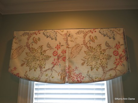 Curved Hem Tailored Tree of Life Print Valance