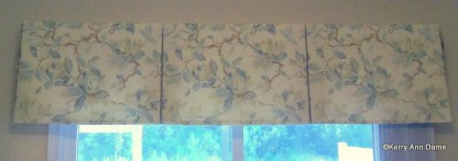 109-34-Tailored Valance in Shabby Chic Faded Floral Linen