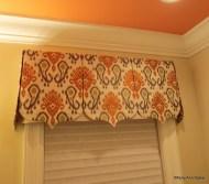 Ikat fabric pennant valance, Mughal Style