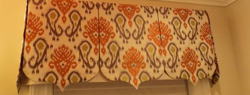 Ikat fabric pennant valance, Mughal Style