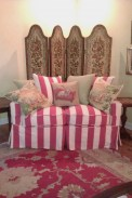 Shabby Chic berry stripe slipcover