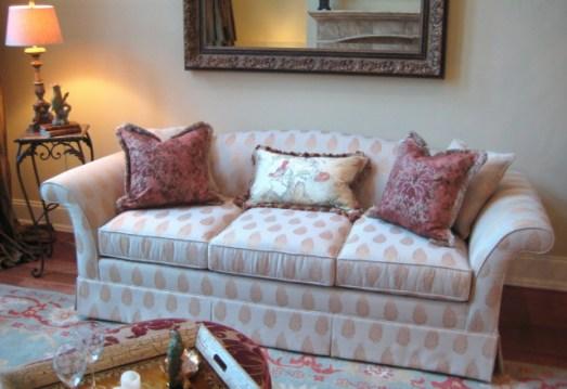 Elsie Camelback Sofa with Swan Arm