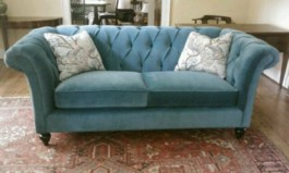 Tufted Durable Velvet Sofa