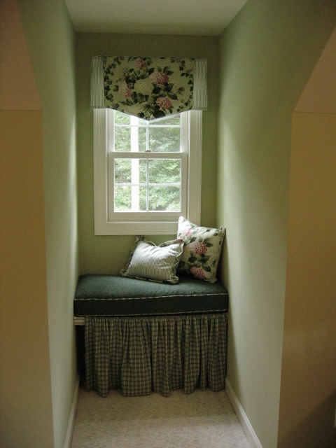 Pennant valance in dormer window for Window design solutions