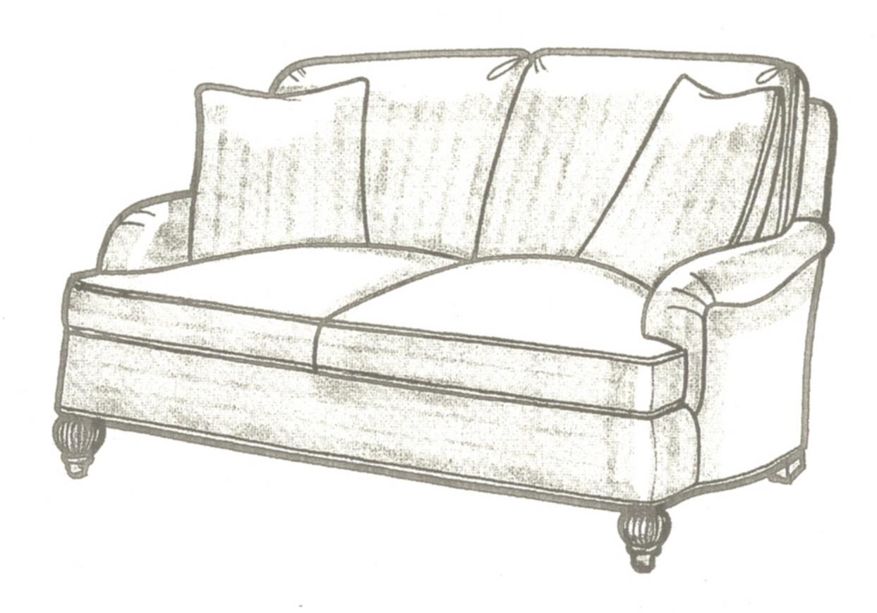 English Arm Sofa With Back Cushions