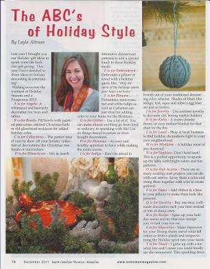 ABC of Holiday Style - 1