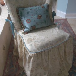 Chic Chair Covers Birmingham Antique Koken Barber Parts Shabby Vanity Slipcover