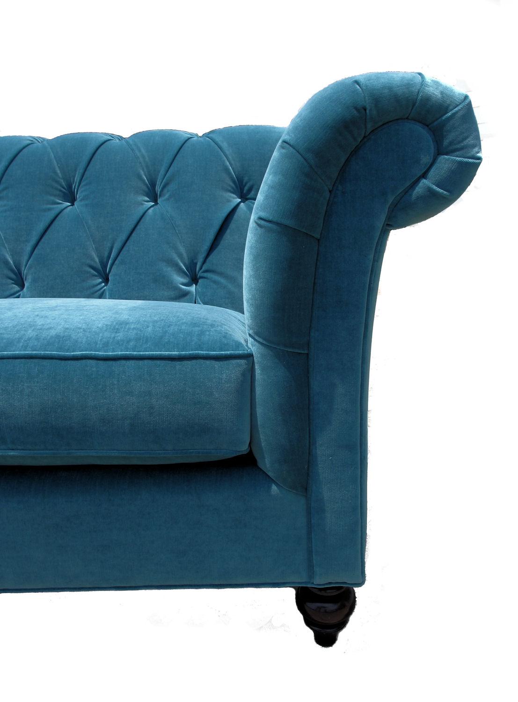 Peacock Blue Tufted Sofa