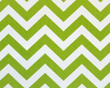 Chevron Zig zag Lime Green Fabric
