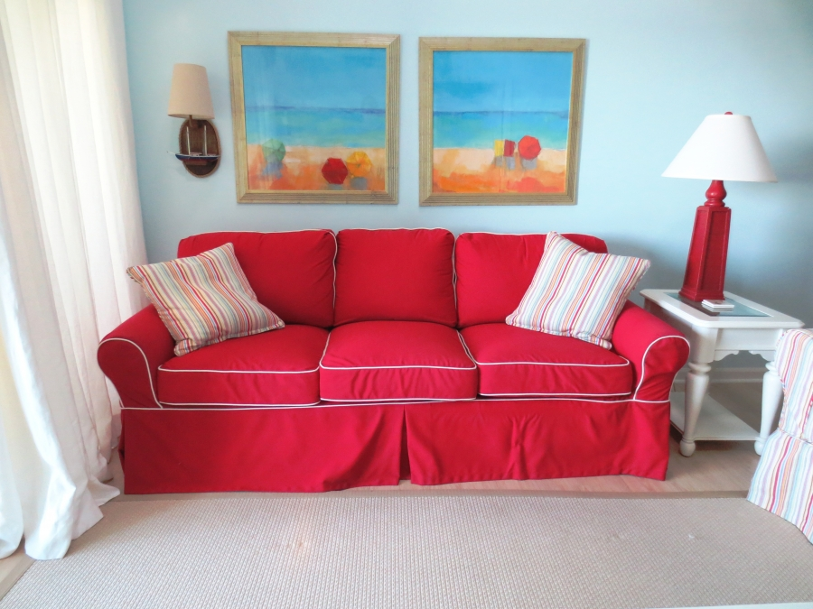 extra long sofa slipcover cheap sets 5 seater surfside beach oceanfront condo