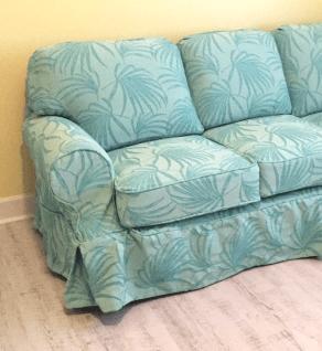 Fiji Turquoise Palm Sofa