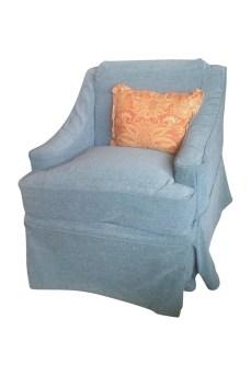 custom velvet chair slipcover