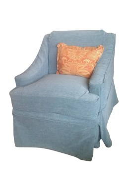 custom velvet chair slipcover