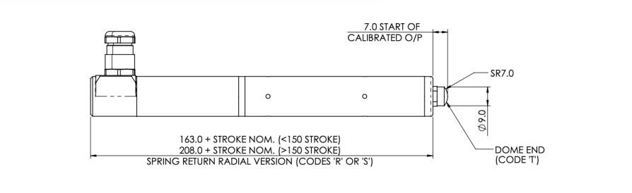 capteur positek resistant 10 bars S119 sortie radiale
