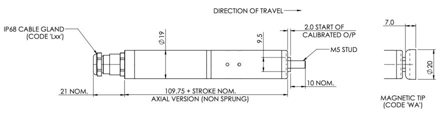 positek Sensor S119 connector 10bars underwater