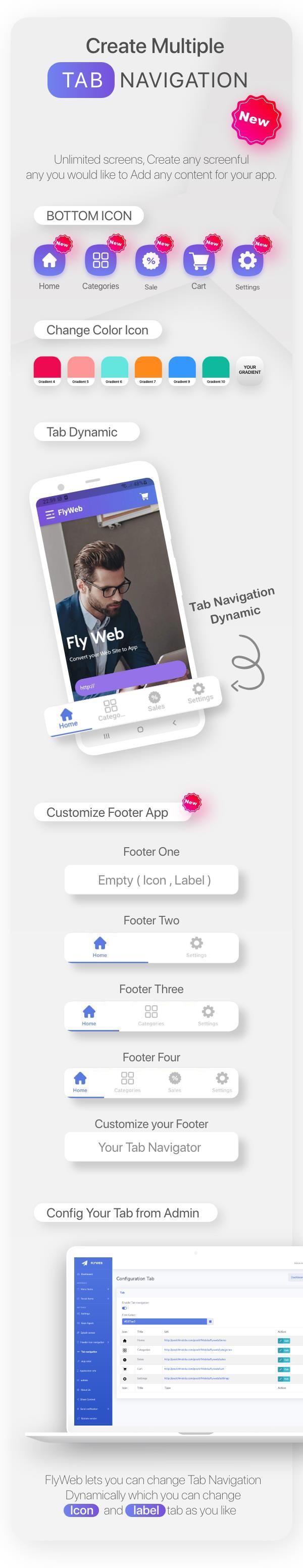 FlyWeb for Web to App Convertor Flutter + Admin Panel - 12