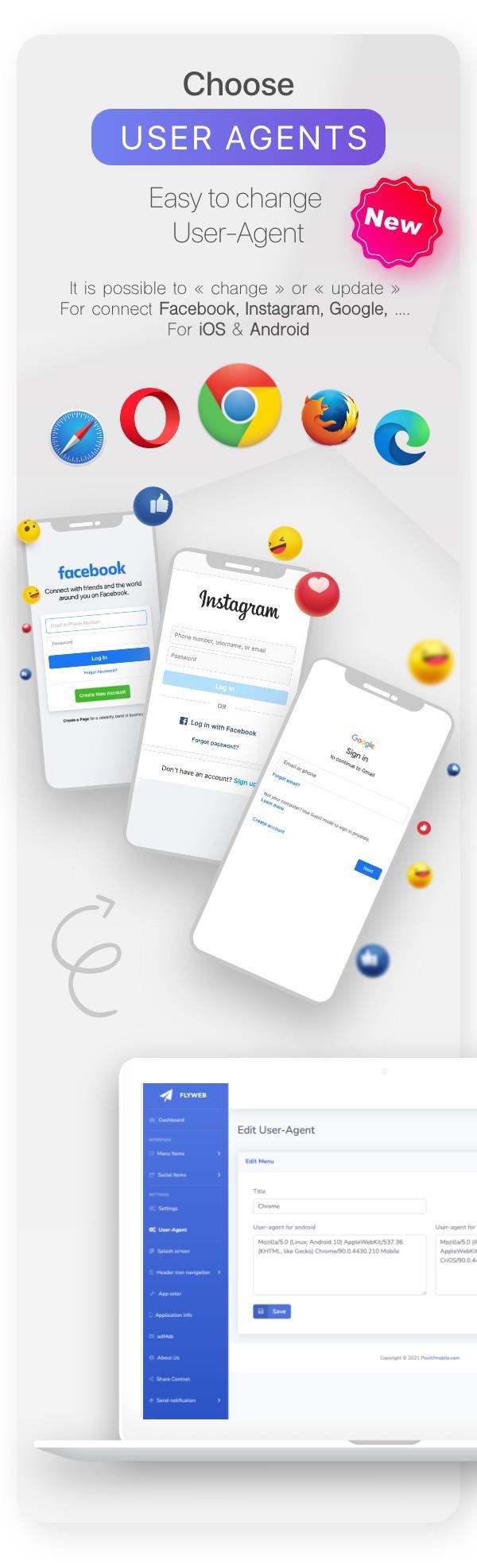 FlyWeb for Web to App Convertor Flutter + Admin Panel - 17