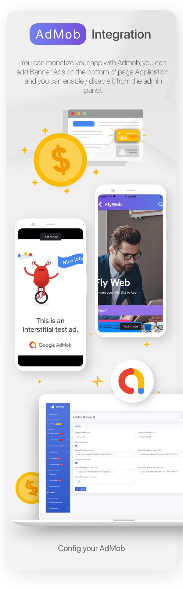 FlyWeb for Web to App Convertor Flutter + Admin Panel - 23