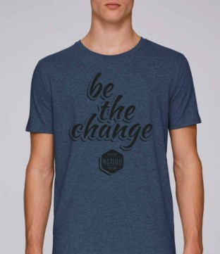 Tee shirt Be The Change Positive Action Festival Homme