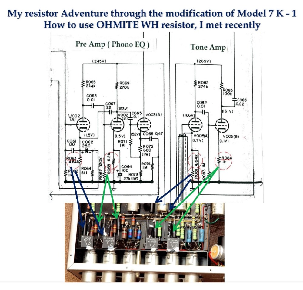 medium resolution of for the cathode resistors of the first stage tube r63 a b and r81 a b 2 deposited carbon resistors were specified and for the cathode resistor of the