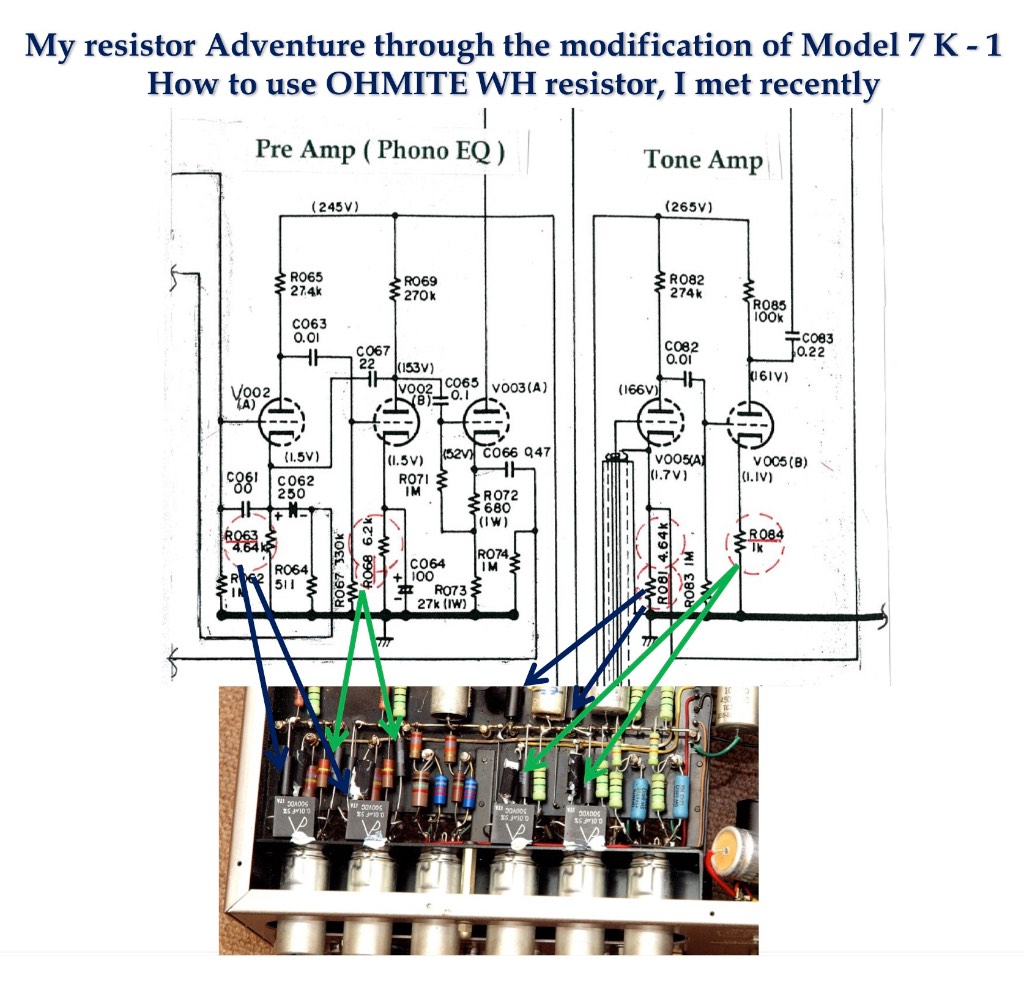 hight resolution of for the cathode resistors of the first stage tube r63 a b and r81 a b 2 deposited carbon resistors were specified and for the cathode resistor of the