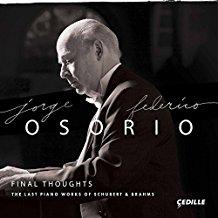 Notes of an Amateur: Osorio Plays Brahms and Schubert; Bostridge's Schubert; Bartok Quartets by the Heath Quartet; Gardiner's St. Matthew Passion; Leonard Bernstein's Solo Piano Music
