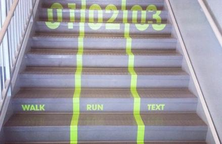 Utah Valley University Adds Track To Stairs, Walk, Run And Text! Check It OUT!