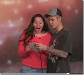 BIEBER WEEK: 'I'm Real You Can Touch Me' Justin Surprises Super Fans!